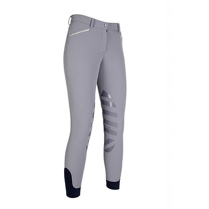 Pewter Softshell Riding Breeches - Silicone Knee Patch