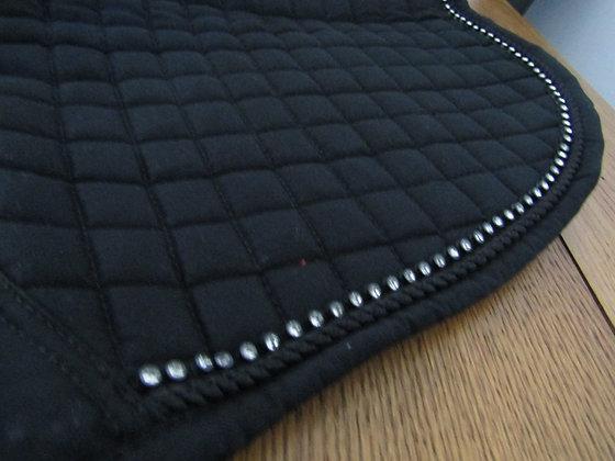 Brillare Diamante Trim Dressage Square Black