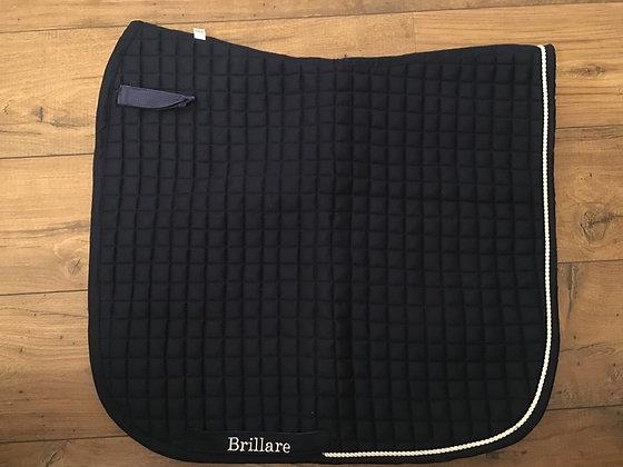 Brillare Plain Dressage Square Black with White