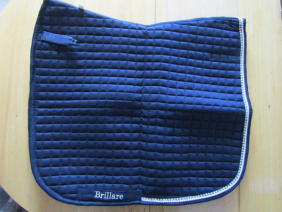 Brillare Diamante Trim Dressage Square Navy with white
