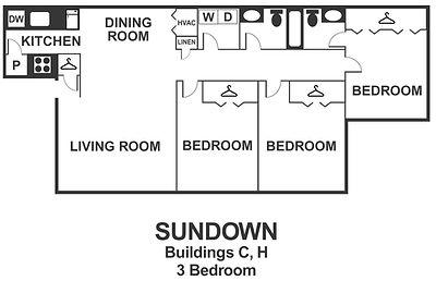 Sundown 3 Bedroom