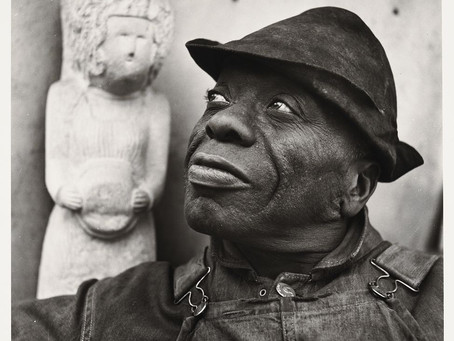 William Edmondson, first African American artist to have an exhibition at the Museum of Modern Art