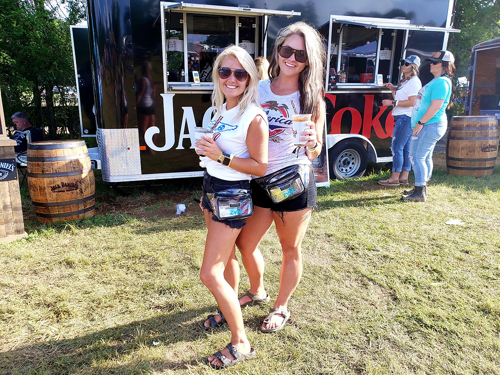 Holly Burns and Crystal Franklin, from White House, Tennessee, came to experience Lynchburg Music Fest and became fans of Jack Daniel's drinks.