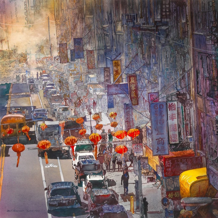 Yellow Awning by John Salminen is a American Watercolor Society Medal of Honor winner and part of the 153rd Traveling Exhibition that will be on display at the Tullahoma Art Center. (Art Provided)