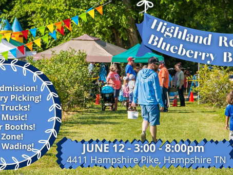 Experience blueberry picking, desserts, nature, music at Highland Realm Blueberry Bash