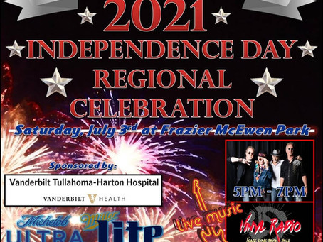Tullahoma Announces Regional July 4th Concert and