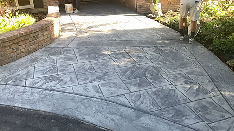 Ashlar Stamped Entrance