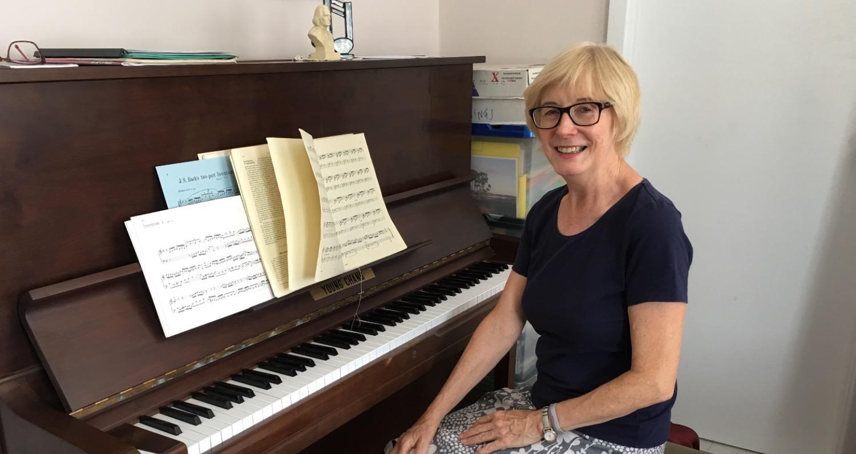 Retiree piano student