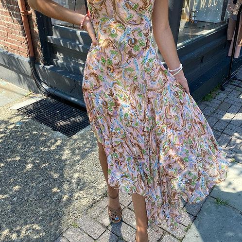 Diane Von Fursetnberg Floral Sequin Dress