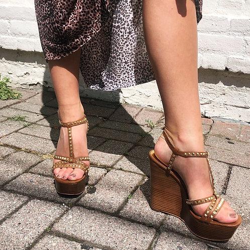 Michael Kors Studded Wedge Sandal