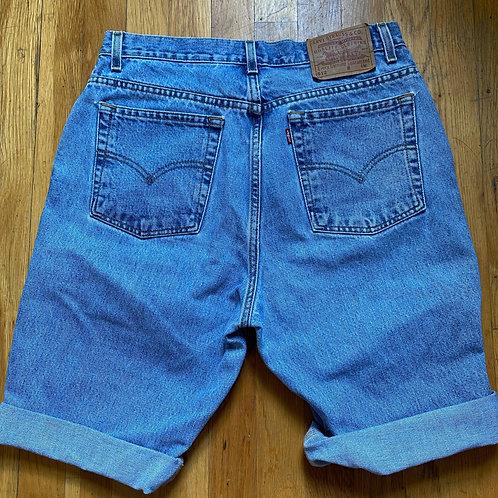 Vintage Light Wash Levi Bermuda Denim Shorts