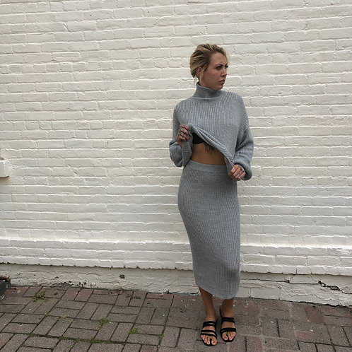 Gray Knit Set