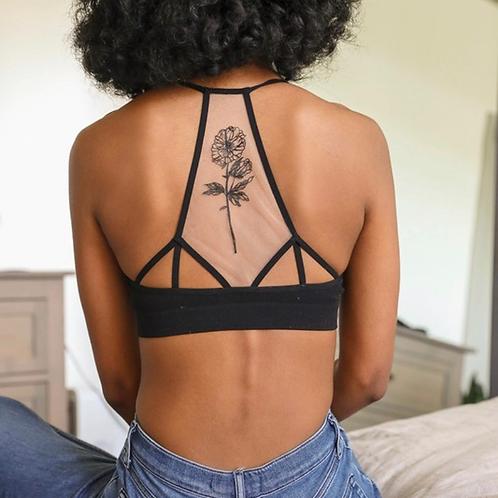Mesh tattoo bralette
