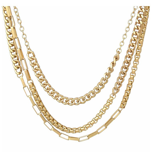 Triple layer chunky necklace