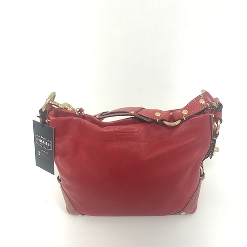 Red Leather Coach Bag