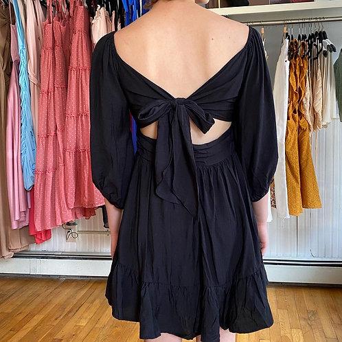 Babydoll open back dress