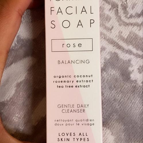 Organic foaming facial soap