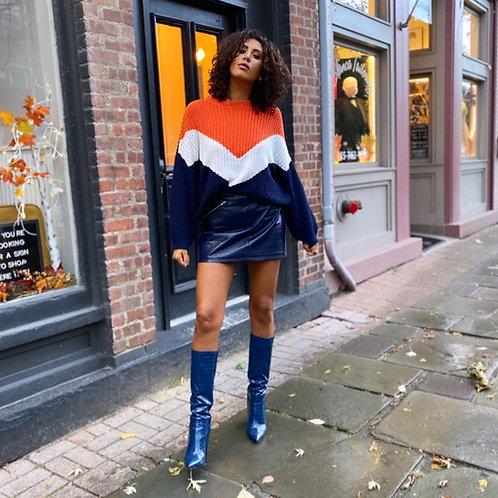 Oversized color block sweater