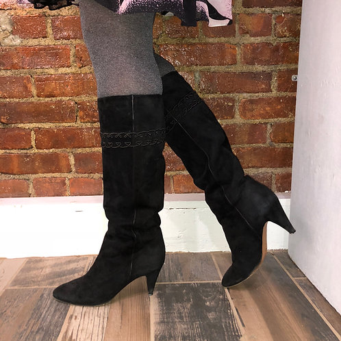 Gucci Suede GG EMbroidered Boots