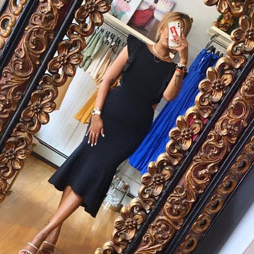 Cutout ruffle dress
