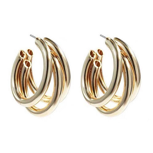 Triple threat hoops earrings