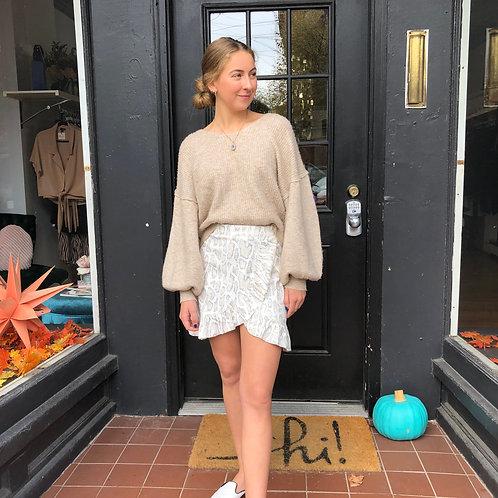Snakeskin Ruffle Skirt