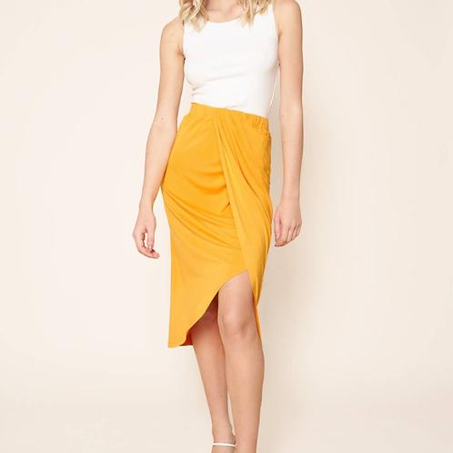 Marigold wrap sarong skirt