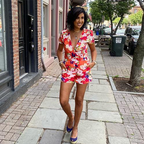 Yumi Kim Silk Floral Romper