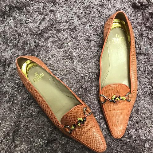 Fendi Snake Loafers