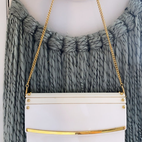 Vintage Myers Acrylic bag with gold chain