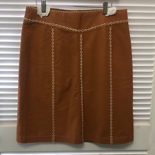 Gap Leather Skirt with Stitching