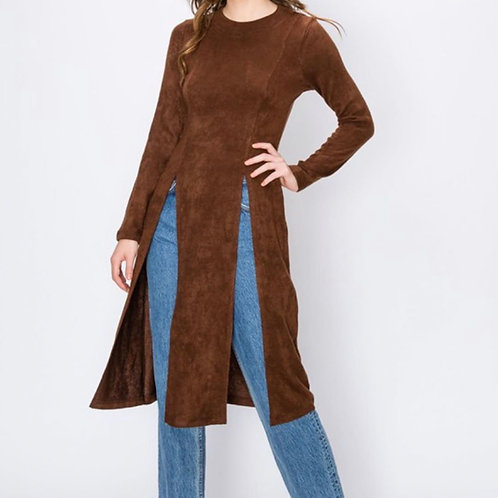 Chocolate Slit Sweater