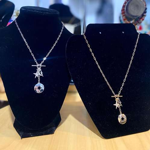 Star & Moon toggle necklace