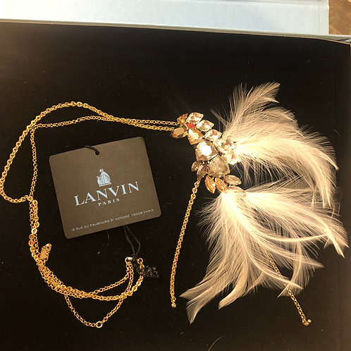 New Lanvin Crystal and Feather Neckace