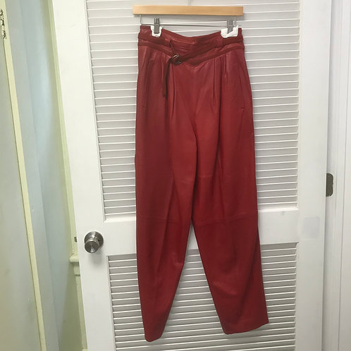 Gucci Leather High Waisted Pants