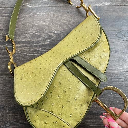 Dior Ostrich Saddle Bag