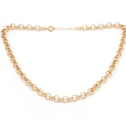 Gold Hoop Necklace