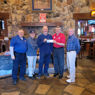 During a recent luncheon, Mr. Larry Little, president/owner of Ace Fence Company, presented a golf tournament sponsor check to Veterans Center of North Texas (VCONT) Executive Director Paul Hendricks for the Veterans Scramble 2021. This golf tournament is a community event scheduled for April 30th at Heritage Ranch to support Veterans integrate into our communities. Register now for the golf tournament at https://www.veteranscenterofnorthtexas.org/events!