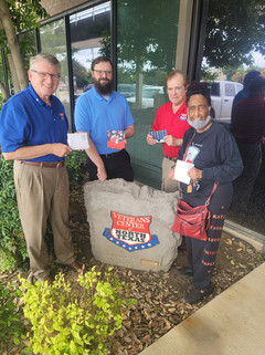 Patriot Delphane Price presented Veteran Thank You cards to the Veterans Center of North Texas to honor and celebrate the sacrifices and services of our American Veterans and their families.