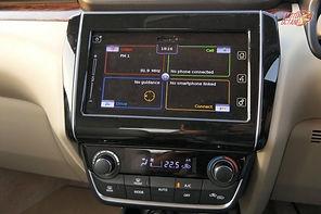 Climate control & music system in the Suzuki Dzire;pic credits:https://motoroctane.com/