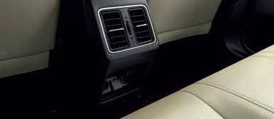 Rear AC vents and charging ports; picture:hondacarindia.com