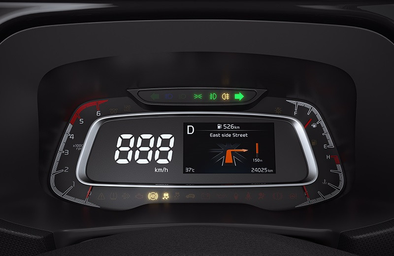 Sonet's digital instrument cluster, picture:kianewscenter.com