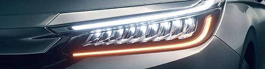 Honda City's 9 LED headlamps with DRLs;picture:hondacarindia.com