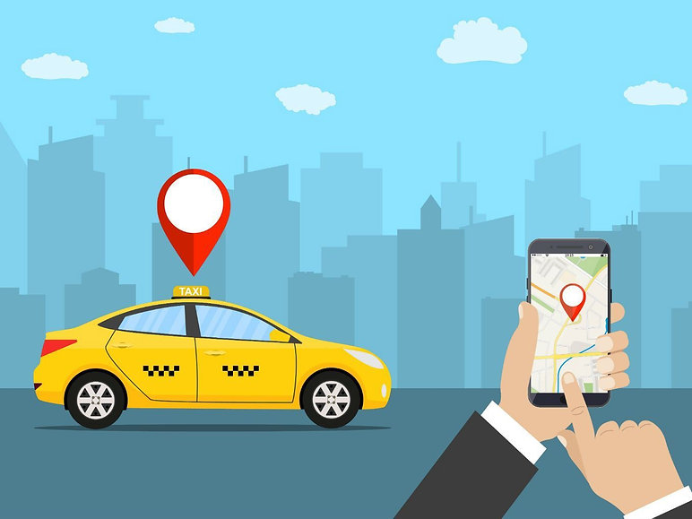 eminence of app-based cab services;picture:medium.com