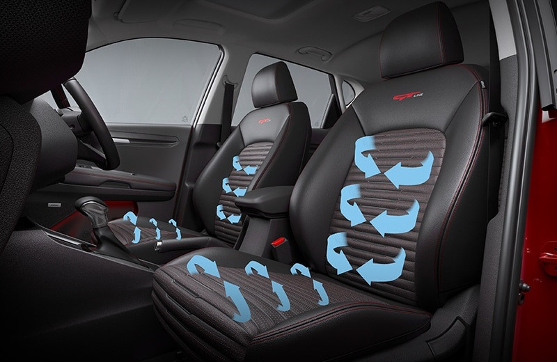 Sonet's ventilated front seats, picture:kianewscenter.com