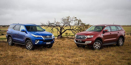 Ford Endeavour and Toyota Fortuner lurking together;pic credits:motoringjunction.com