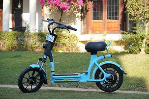 Yulu e-bikes at Delhi, India; pic credits:https://techcrunch.com/