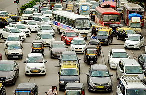Traffic congestion with multiple cabs;picture:telegraphindia.com.jpg