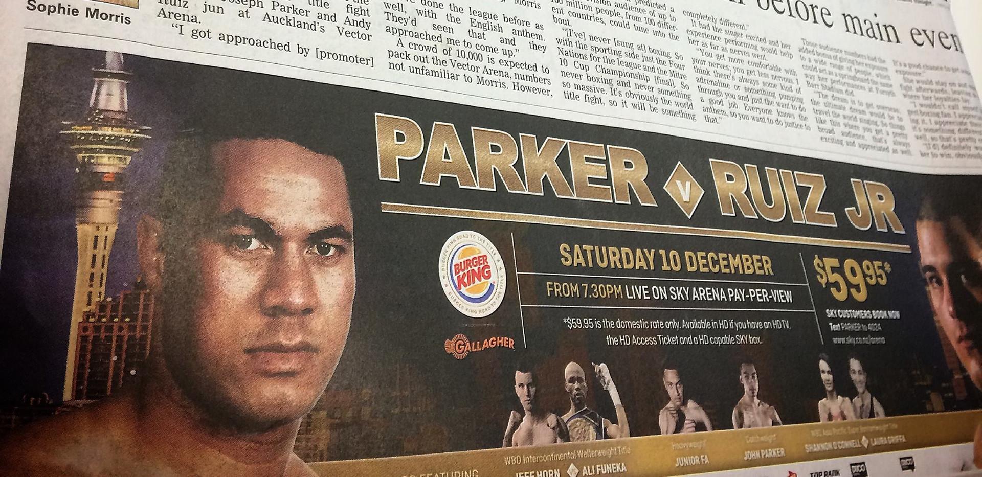 Parker v Ruiz WBO World Heavyweight Championship Title Fight