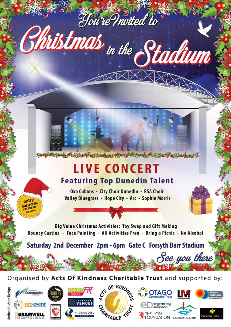 Christmas in the Stadium - Forsyth Barr Stadium